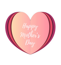 Card - happy mothers day in papercut style vector