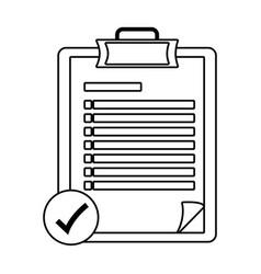Checklist icon cartoon in black and white vector
