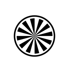 Circle with radial rays icon simple style vector