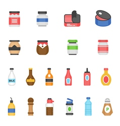 Color icon set - ketchup vector image