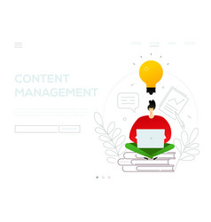 content management - modern flat design style vector image
