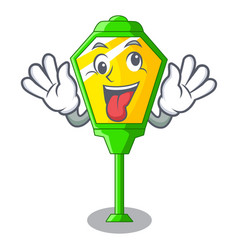 Crazy character a lamp in post style vector