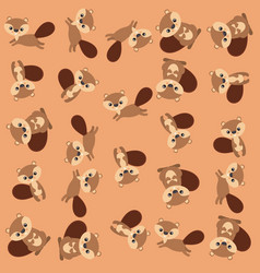 cute chipmunk pattern background vector image