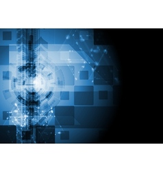 Dark blue hi-tech design vector image vector image