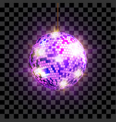 disco ball with light rays isolated on vector image