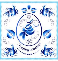 Easter gzhel eeg 2 vector image