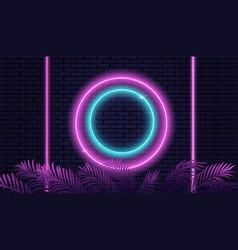 empty neon stage vector image