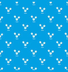 engine pattern seamless blue vector image