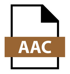 File name extension aac type vector