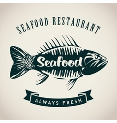 Fish for seafood restaurant vector