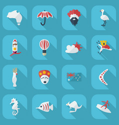 Flat concept set modern design with shadow vector