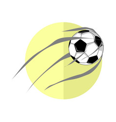 football ball shot vector image