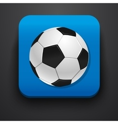 Football symbol icon on blue vector