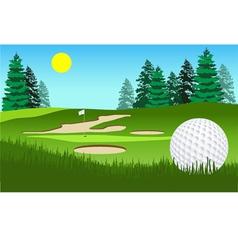 Golf fairway shot vector