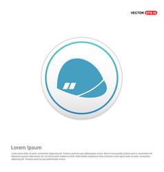 halmet icon - white circle button vector image