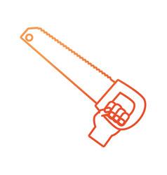 hand saw vector image