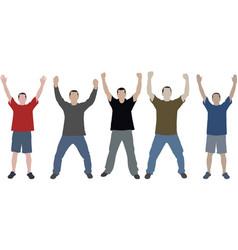 Hands up vector