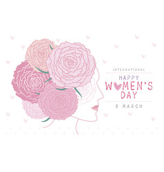 happy 8 march international womens day design vector image