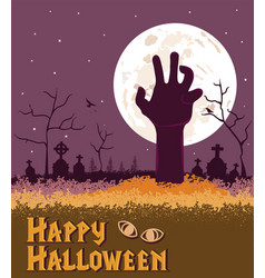 happy halloween spooky background vector image