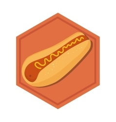 Hot dog fast food menu vector