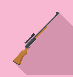 Hunter rifle icon flat style vector
