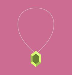 Icon in flat design fashion necklace with precious vector