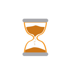 isolated hourglass icon vector image