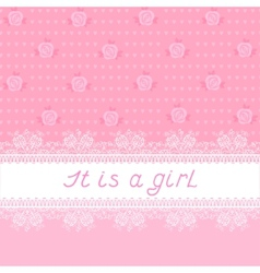 It is a girl vector image