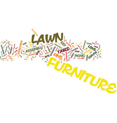 Lawn furniture text background word cloud concept vector