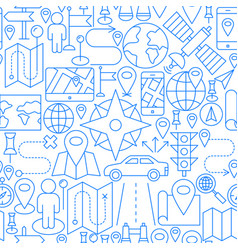 location line seamless pattern vector image