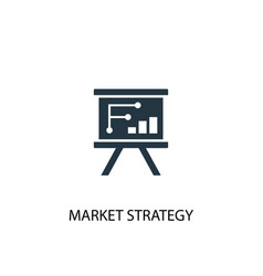Market strategy icon simple element vector