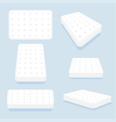 Mattress in all positions set vector