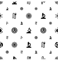 Micro icons pattern seamless white background vector