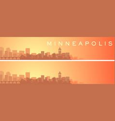 Minneapolis beautiful skyline scenery banner vector