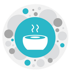 Of cook symbol on food icon vector