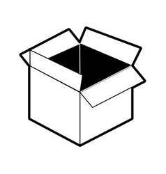 open cardboard box icon imag vector image