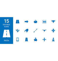 Path icons vector