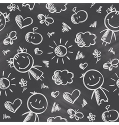 Pattern with kids vector