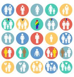 People gender race orientation age set on color vector
