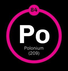 Polonium chemical element vector