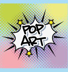 Pop art bubble vector