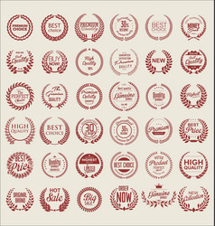 Premium quality laurel wreath collection 2 vector