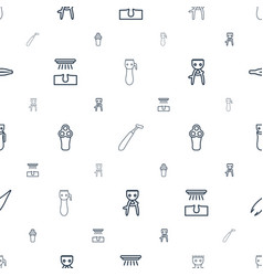 Removal icons pattern seamless white background vector