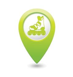 Rollerskates GREEN map pointer vector