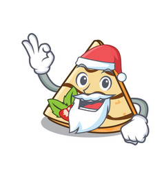Santa crepe mascot cartoon style vector