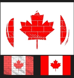 Scratched flag of Canada vector image
