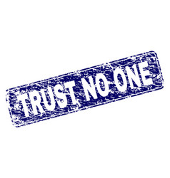 Scratched trust no one framed rounded rectangle vector