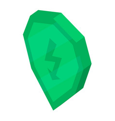 secured computer icon isometric style vector image