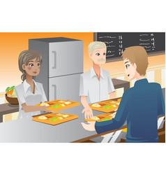 serving food vector image