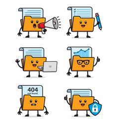 Set document folder design vector